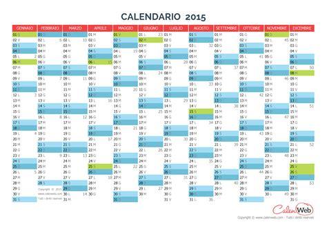 Calendario A Settimane 2015 Calendario Annuale Anno 2015 Con Le Festivit 224 Italiane