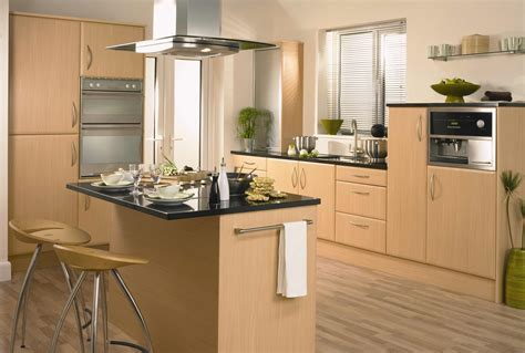 Wood Cabinets Kitchen Palermo Beech Pebble Kitchens