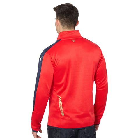 arsenal quarter zip puma arsenal sponsor quarter zip training top ebay