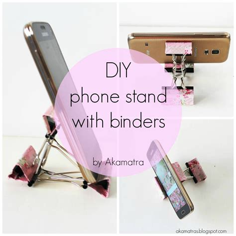 diy phone stand for desk diy smart phone stand with binders tutorial akamatra