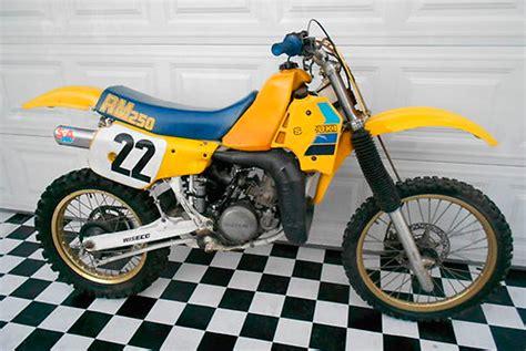 1985 Suzuki Rm 250 1985 Suzuki Rm 250 Floater Suzuki Rm Vintage Motocross