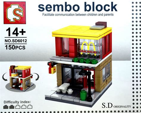 Sembo Block Shop Sd6011 sembo block s d originality high eatery shop series sd6012 two story fast food chain