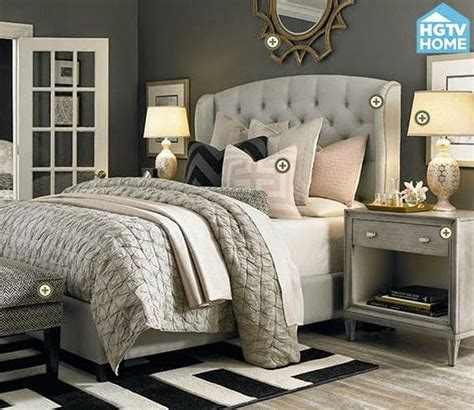 glamorous grey bedroom decor grey tufted headboard copy cat chic room redo glamorous gray bedroom copycatchic