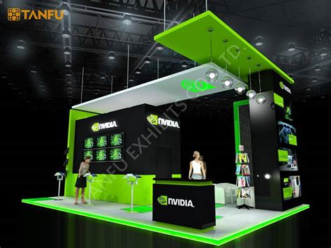 booth design free software 20ftx30ft trade show booth exhibit display with led light