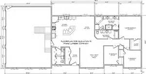 Residential Floor Plans And Elevations by Metal Building Plans Sample House Design And Decorating