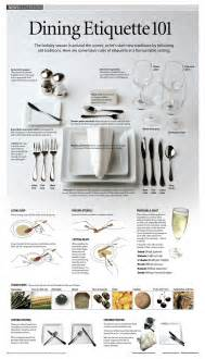 Proper Dining Table Setting Dining Etiquette 101 Visual Ly