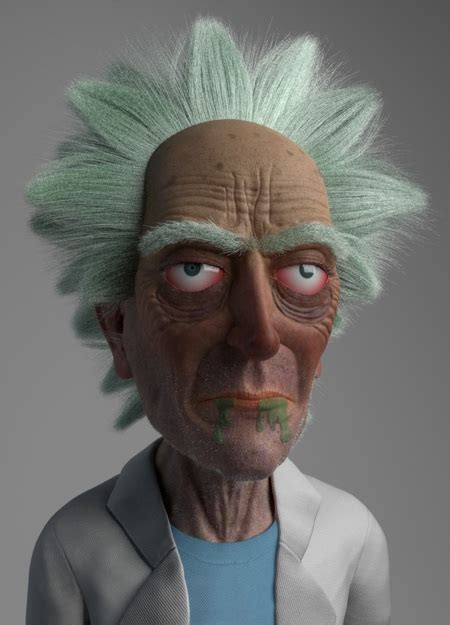 realistic rick  morty