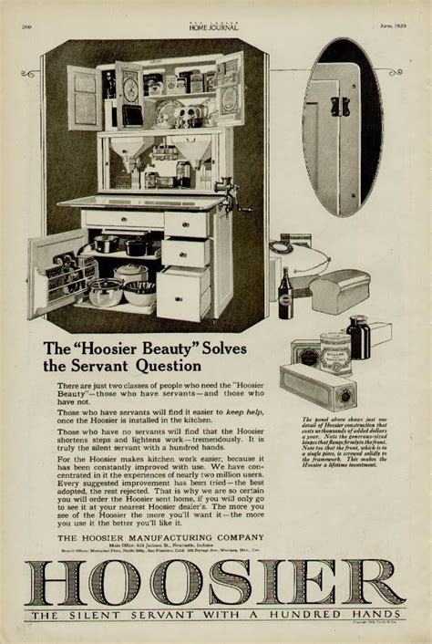 kitchen cabinet advertisement 1920 hoosier kitchen cabinets ad quot hoosier beauty