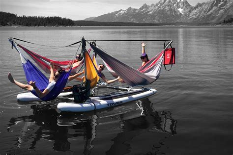 Hammock Raft hammock raft is for cruising a river can fit up to 5 hammocks techeblog