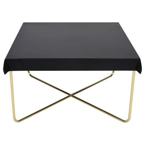 drape table drape brass coffee table in black for sale at 1stdibs