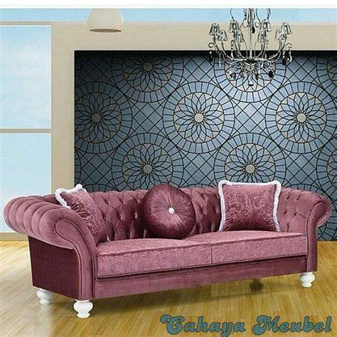 Sofa Warna Ungu sofa jok mewah warna ungu cahaya mebel jepara