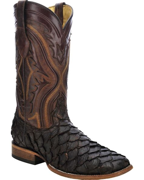 fish boots corral s pirarucu fish cowboy boot square toe c3042