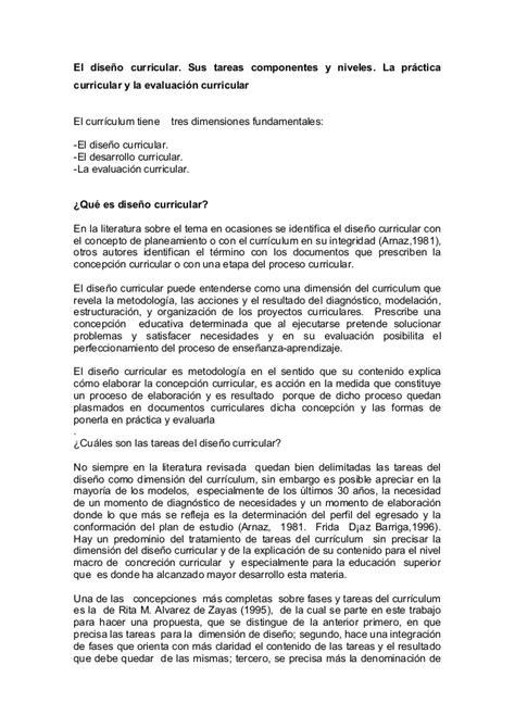 El Modelo Y Dise O Curricular Dominicano El Dise 241 O Curricular Sus Tareas Componentes Y Niveles