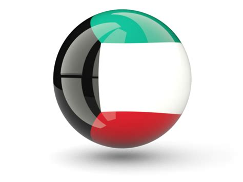 icon design kuwait sphere icon illustration of flag of kuwait