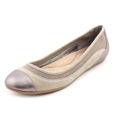 gray flats shoes giani bernini zohar womens size 5 5 gray leather flats