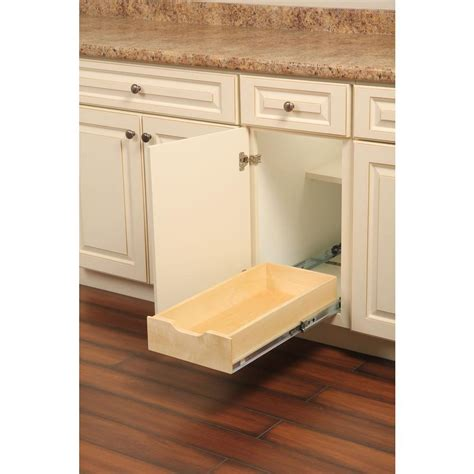 kitchen cabinet organizers home depot real solutions for real 5 in h x 12 in w 22 in d soft wood drawer box pull out