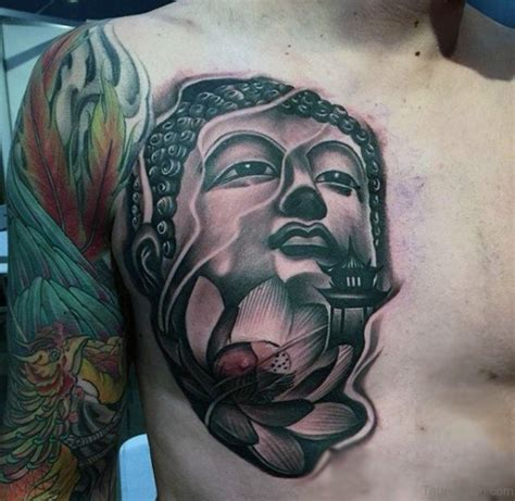 buddha head tattoo 41 religious buddha tattoos for chest