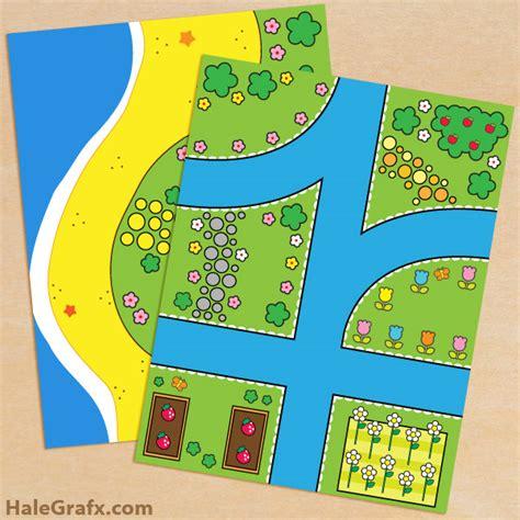 free printable hello themed play mat set