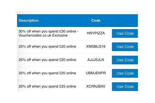 dominos au coupon codes