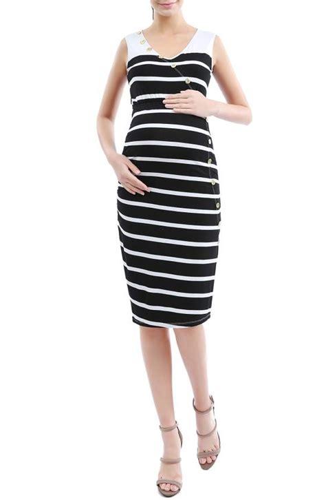 Kimi Maxy Ori Stripe Maxi Line Maxi longoria shows large baby bump in tight