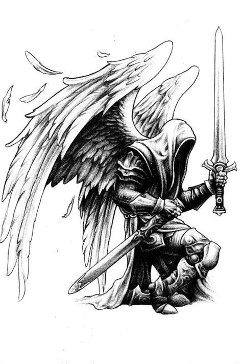 angel warrior tattoo designs warrior sketching warrior