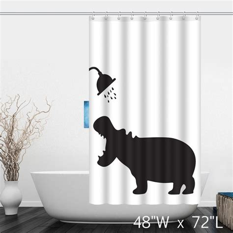 Hippo Shower Curtain by Hippo Take Shower Bathroom Shower Curtain Custom Shower Curtain Store
