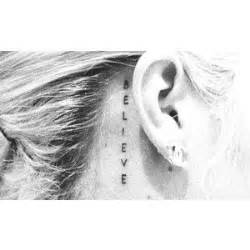 justin bieber tattoo behind ear pinterest the world s catalog of ideas