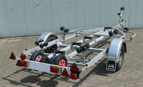 gebruikte pega boottrailer gebruikte freewheel boottrailer 1314 rollen enkelas