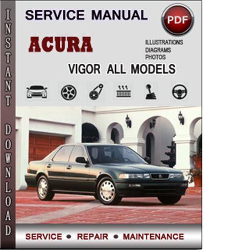 acura vigor service repair manual download info service manuals
