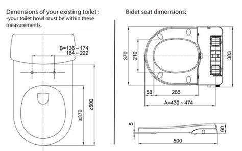 Bidet Dimensions by Maro D Italia Fb104 Non Electric Bidet Toilet Seat Tooaleta