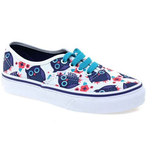 cool vans shoes vans authentic give a hoot lace up canvas shoes