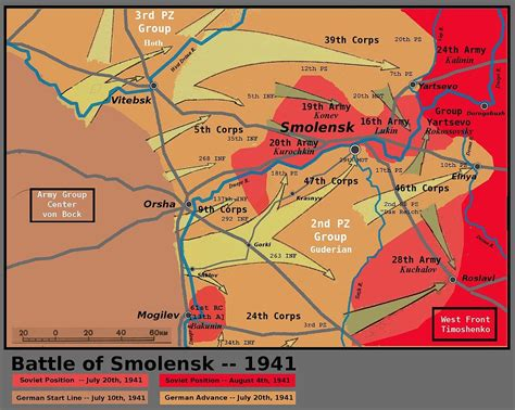 Battle of Smolensk – 1941 Invasion of Russia | SCM Globe