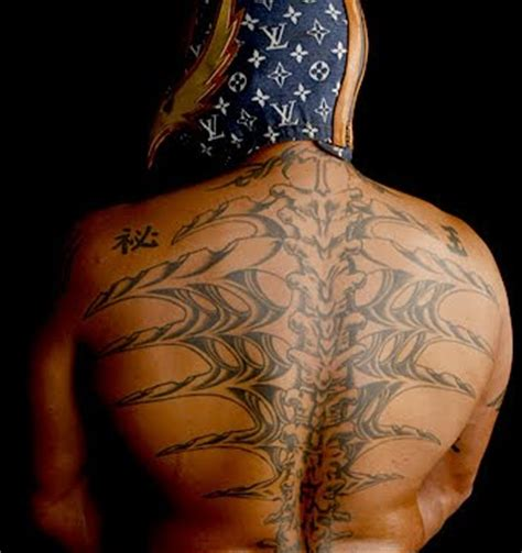 rey mysterio back tattoo mysterio back blacksportsonline
