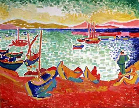 andre derain boats in the port of collioure henri matisse 1905 boats in the port of collioure