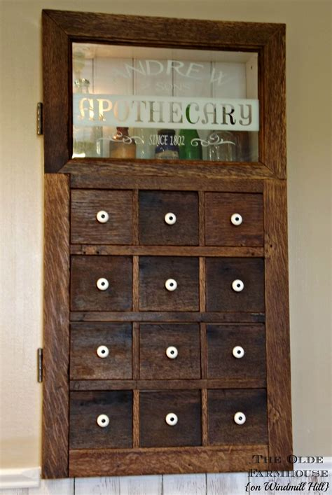 funky medicine cabinets the olde farmhouse on windmill hill apothecary medicine cabinet revised and expanded