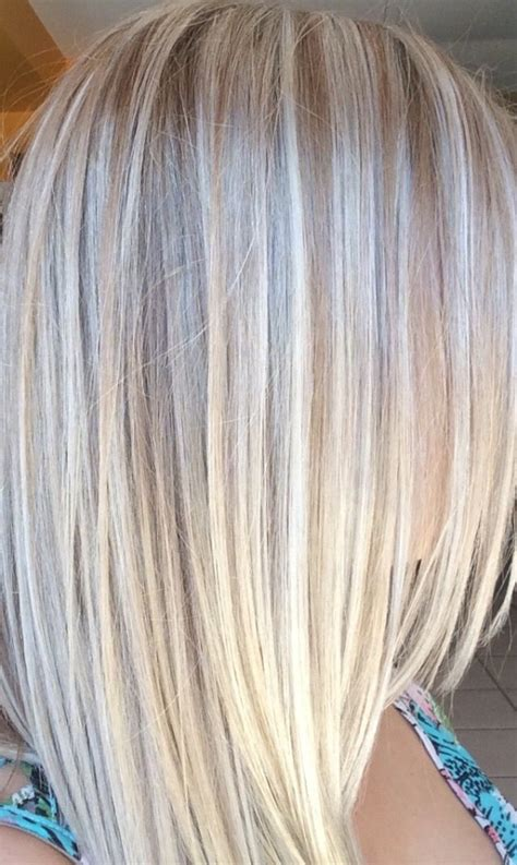 pictures of white hair with lowlights platinum blonde highlights and lowlights by suzette