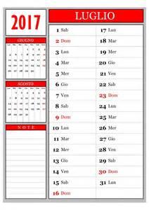 Calendario Luglio 2018 Calendario Calendario Mensile Luglio 2017