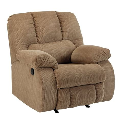 fabric rocker recliner ashley roan fabric rocker recliner in mocha 3860225