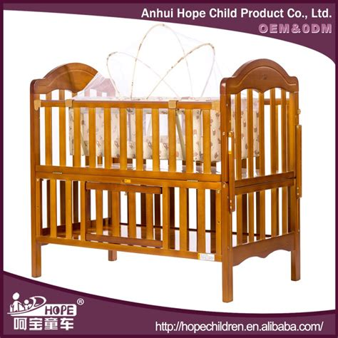 2016 wooden baby crib hammock bed extender for baby doll