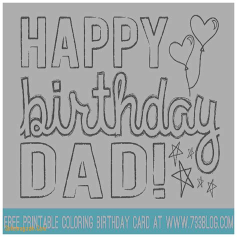 printable birthday cards to dad collection birthday cards for kids to color pictures