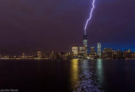 dramatic lightning images and nbc new york