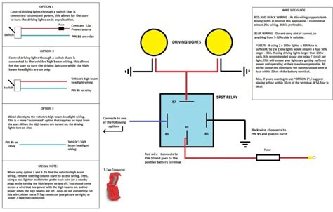 driving lights wiring diagram with relay get free image