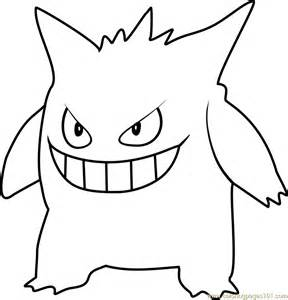 go coloring pages gengar go coloring page free pok 233 mon go coloring