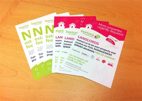 flyer design rotherham bartons double sided leaflets idea uk design and