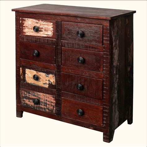 Distressed Wood Chest Of Drawers by Distressed Reclaimed Wood 8 Storage Chest Of Drawers