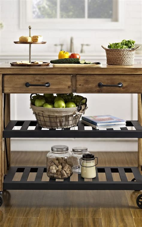 rustic kitchen islands and carts how to build a rustic kitchen cart woodworking projects