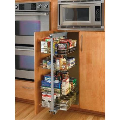 Pull Out Pantry Shelves Home Depot | rev a shelf premiere 20 5 8 in width medium pull out