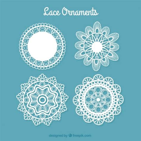 cute lace pattern vector free decorative lace doilies vector free download