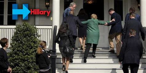 hillary clinton falling down stairs the daily caller new hillary clinton photos reveal she needs help climbing