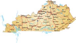 State Of Kentucky Map by Kentucky State Map With Cities Blank Outline Map Of Kentucky
